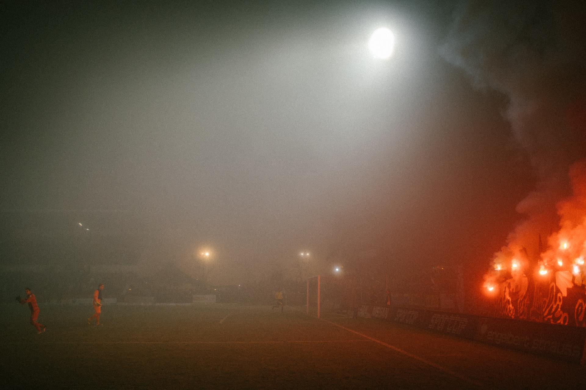 Pyro und Choreo - Stadion Sch�tzenwiese