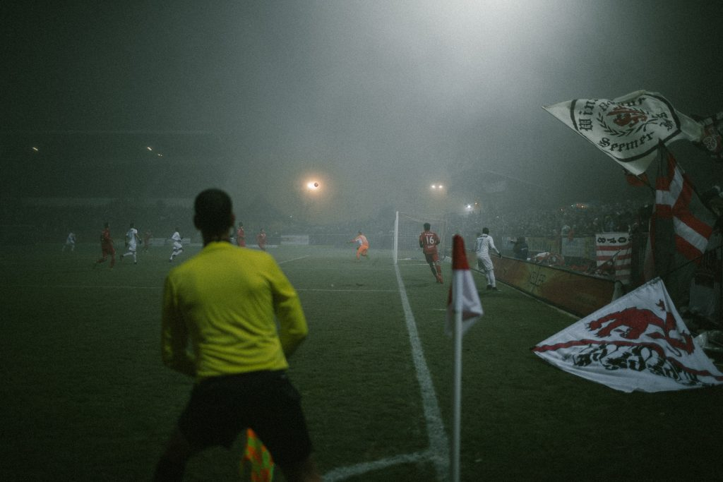 Nebel beim Spiel FC Winterthur gegen den FC Z�rich