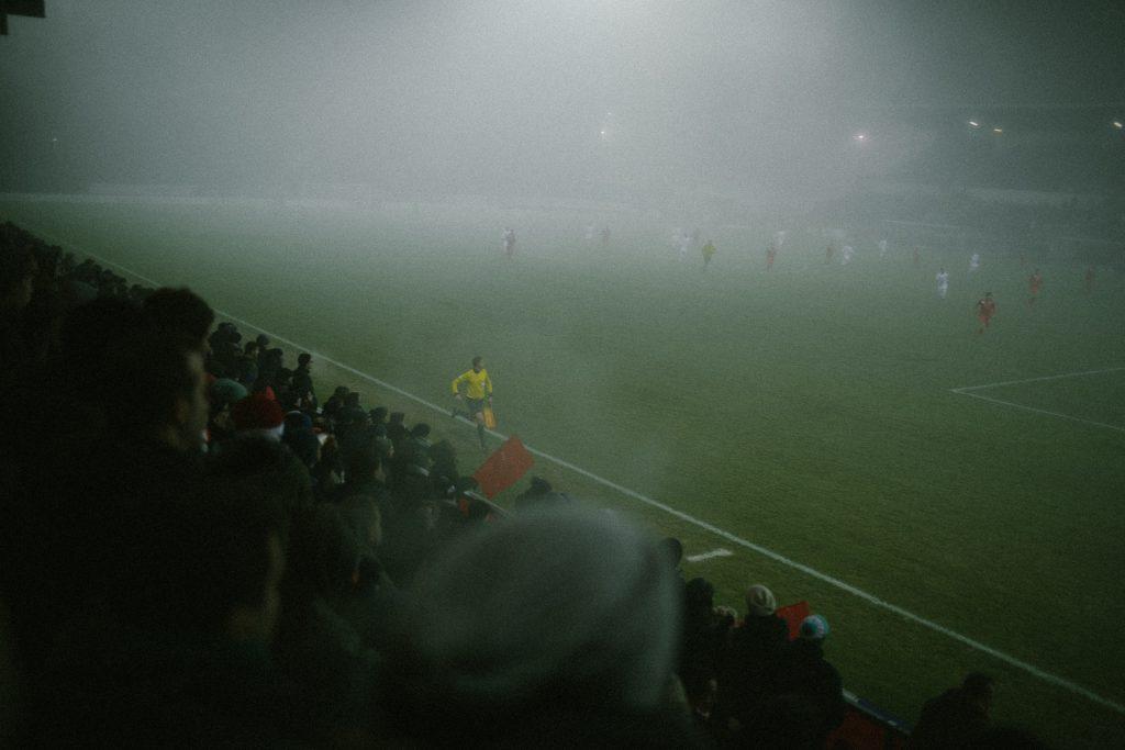 Nebel im Stadion Sch�tzenwiese